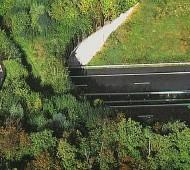 passagem para animais numa estrada em frança
