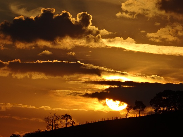sunset-por do sol nuvens solstício de verão