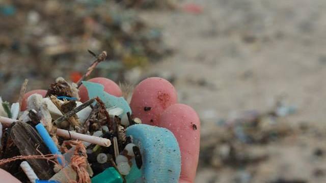 restos de plástico atingem praia em Peniche