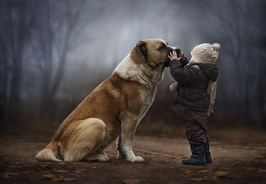 animais crianças quinta fotografia Elena Shumilova