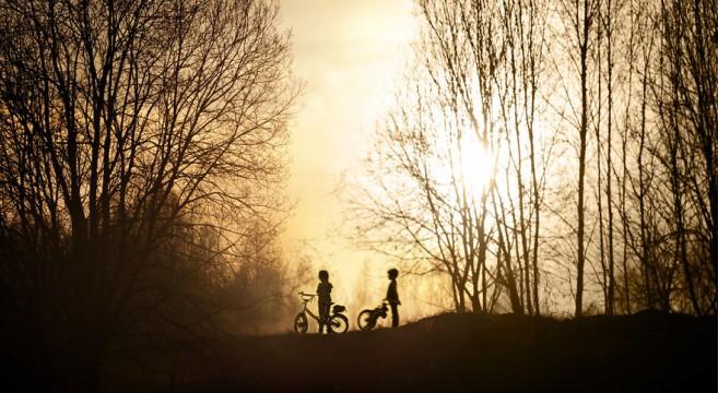 animais crianças quinta fotografia Elena Shumilova bicicleta