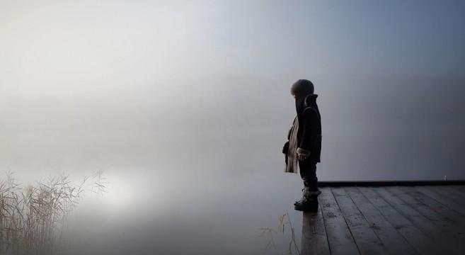 animais crianças quinta fotografia Elena Shumilova nevoeiro