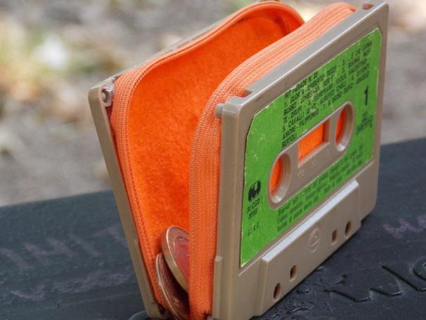 transformar cassete velha em porta moedas