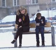 criança com frio