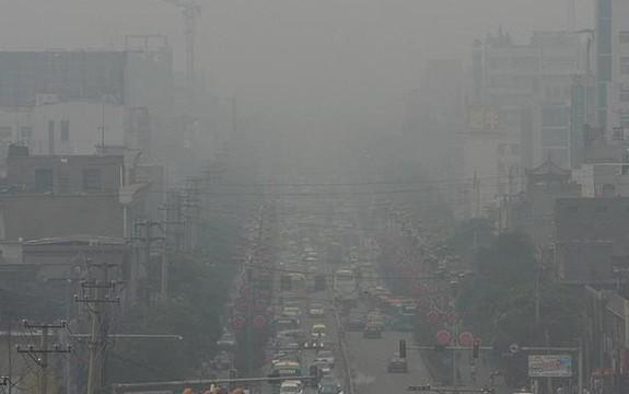 Linfen China poluição do carvão.