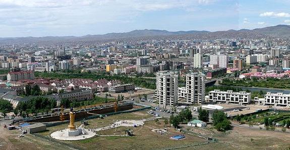 Mongólia Ulaanbaatar cidade poluição