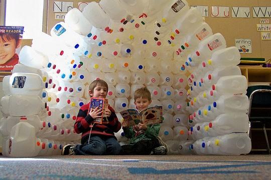 iglu iglô igloo garrafões brincar jardim-de-infância escola