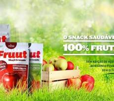snack saudável de maçã, marca fruut.