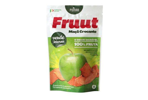 Aperitivo saudável de maçã, marca fruut.