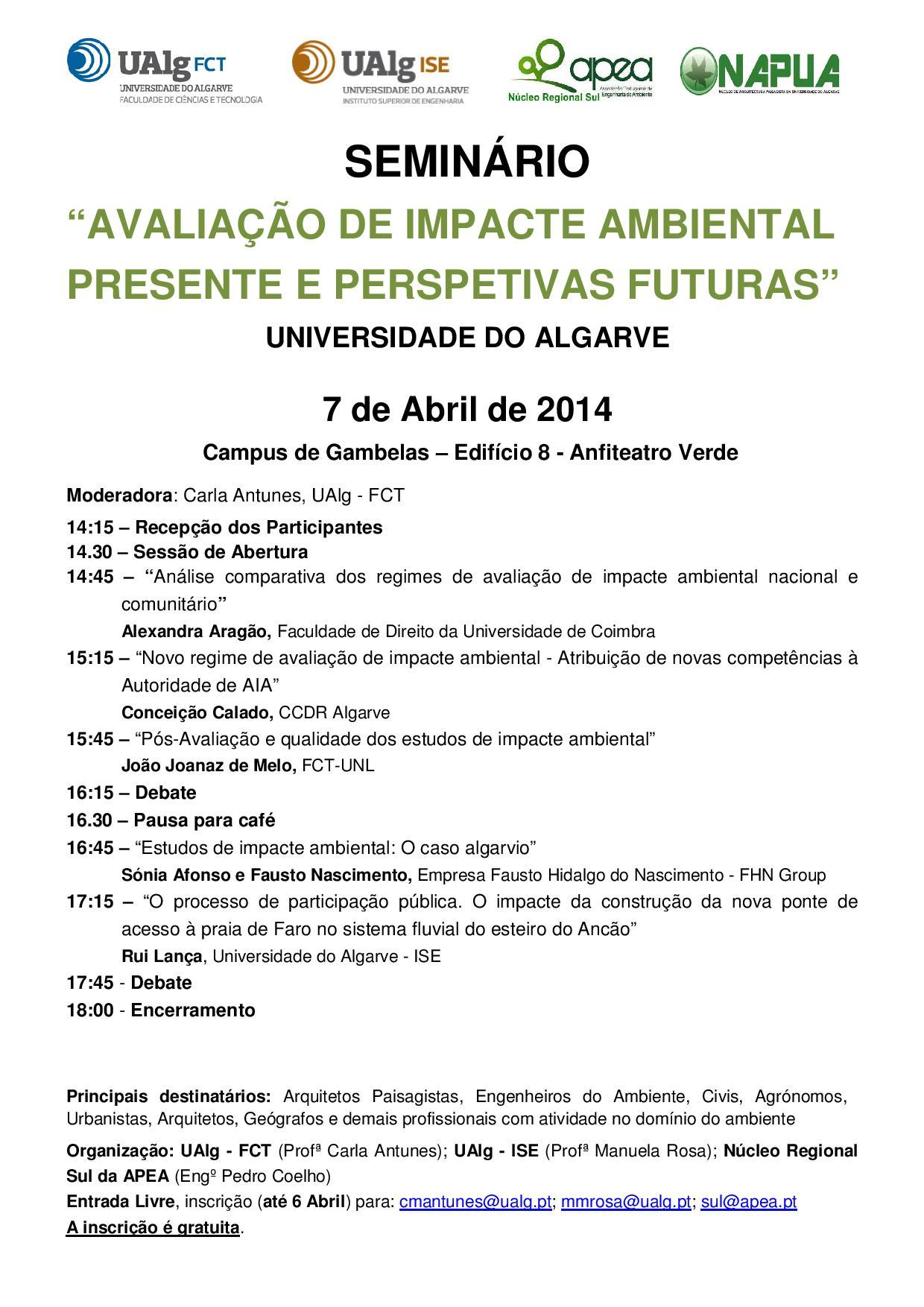 Seminario Avaliacao Impacte Ambiental
