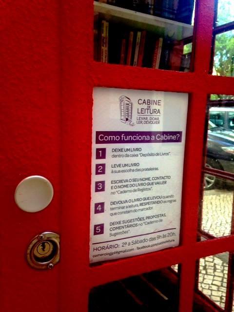 cabine de leitura funcionamento