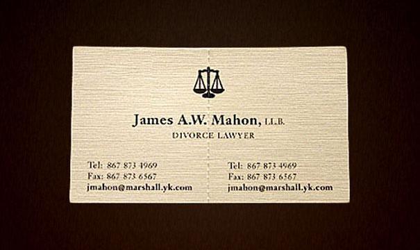 cartão de visita original advogado