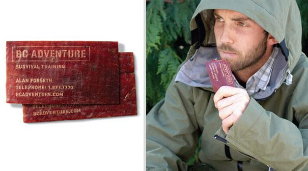 cartão de visita original carne seca sobrevivencia