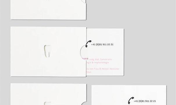 cartão de visita original dentista