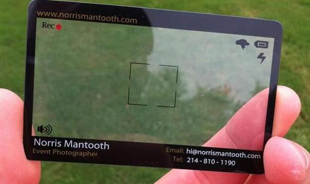 cartão de visita original fotógrafo