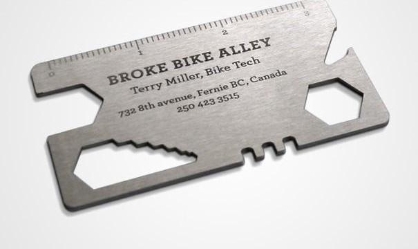 cartão de visita original oficina bicicletas