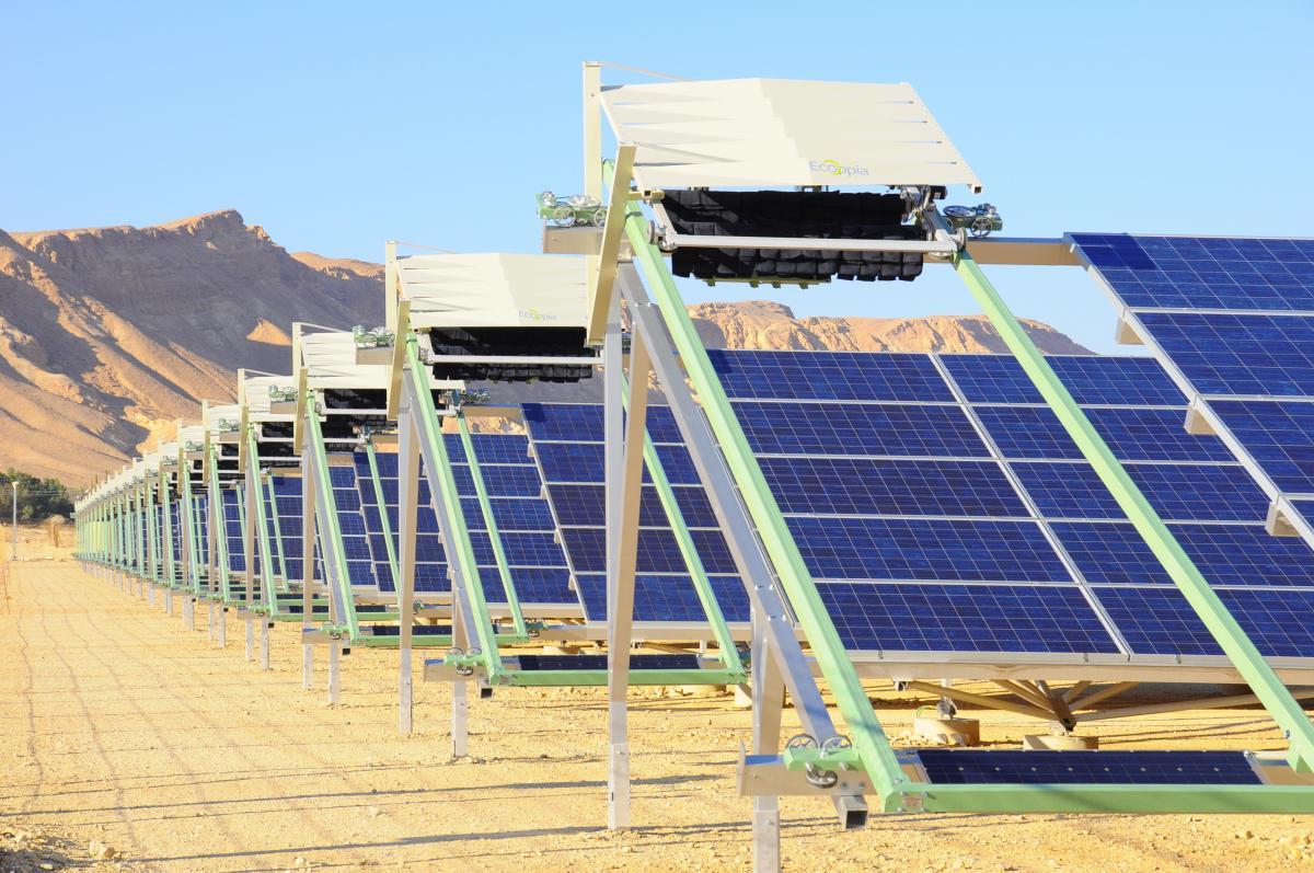 central solar limpeza poeira