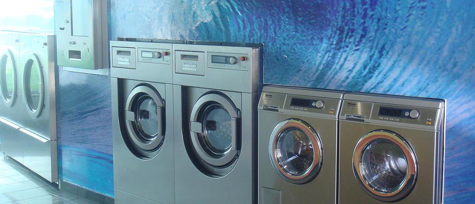 máquinas de lavar lavandaria