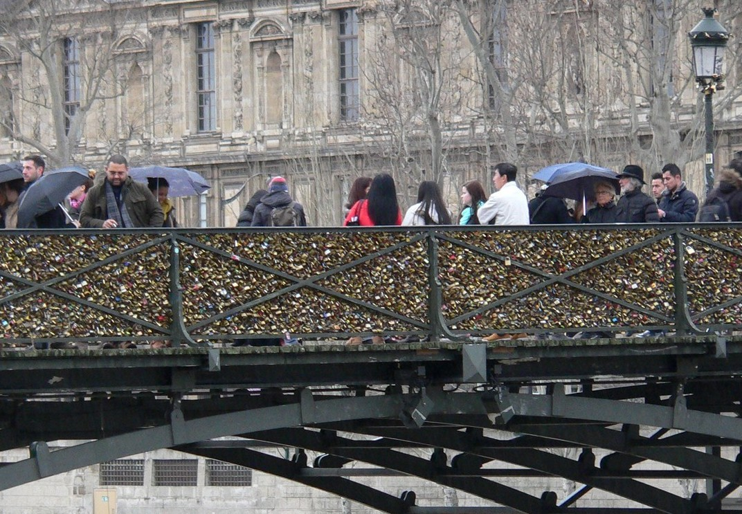 ponte des arts paris cadeados