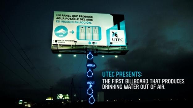 utec billboard água