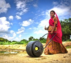 water wheel india água