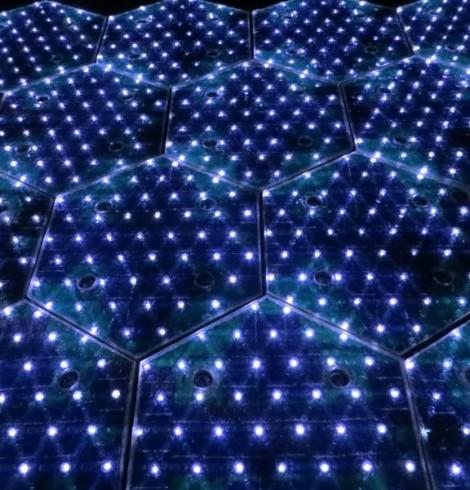 estrada LED solar roadways