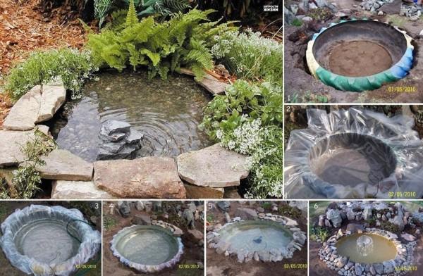 lago charco jardim simples
