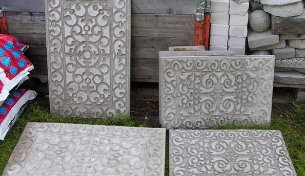 pátio blocos de cimento tapetes