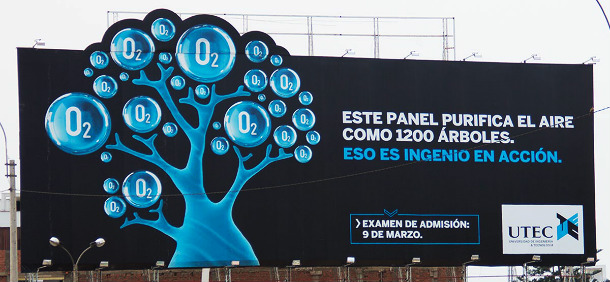 painel outdoor ar puro lima peru utec University of Engineering and Technology of Peru