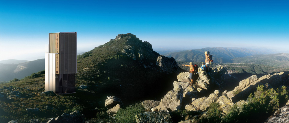 torre turística transportável montanha natureza