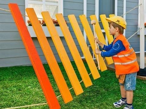 xilofone gigante crianças pátio jardim