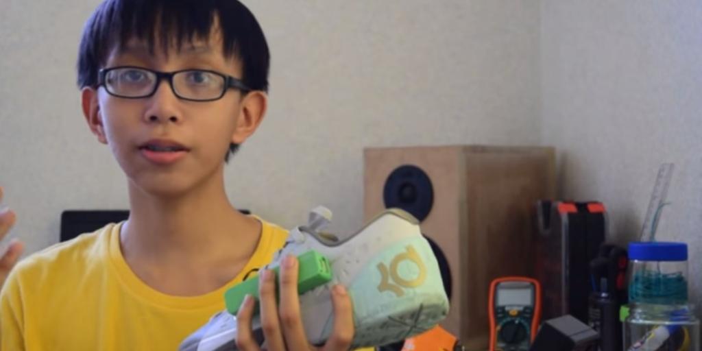 angelo casimiro inventa cerregador telemovel sapatilha ténis sapato