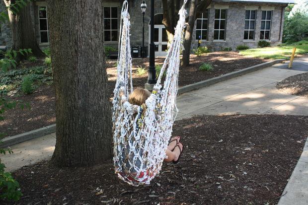 baloiço sacos de plástico upcycling