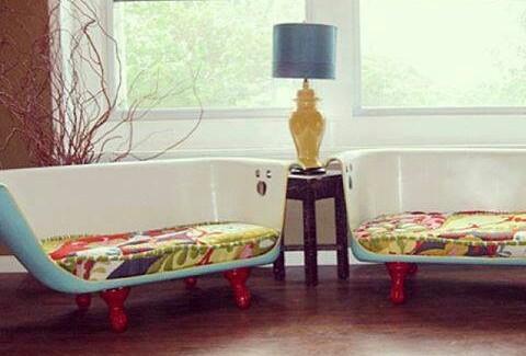 banheira upcycling sofá