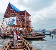 escola madeira flutuante nigéria educação áfrica