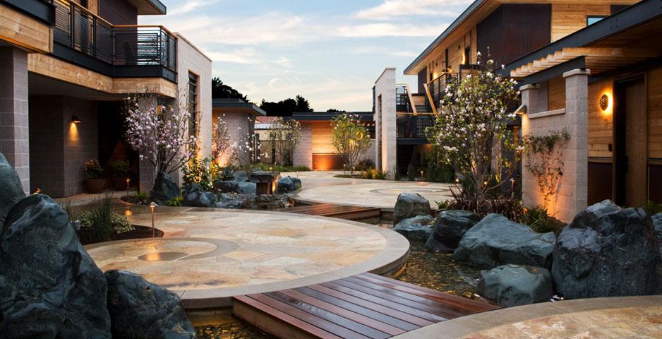 hotel luxo sustentável ecológico paineis solares bardessono california