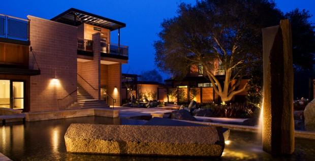 hotel luxo sustentável ecológico paineis solares bardessono