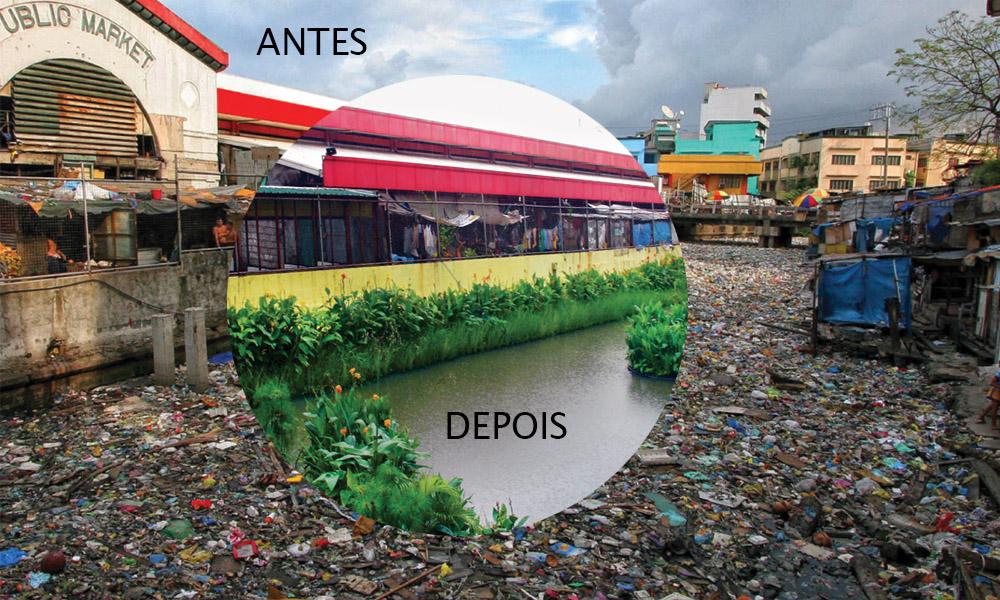 rio poluído biomatrix water poluição