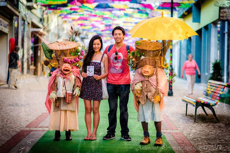 águeda chapéus de chuva agitágueda turistas
