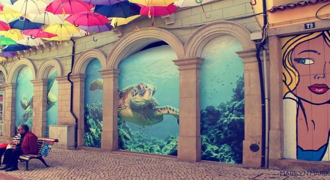 aquário águeda arte urbana