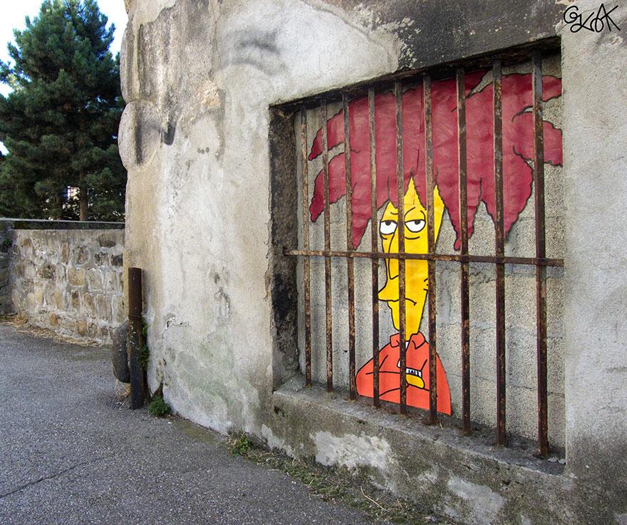 arte urbana oakoak frança