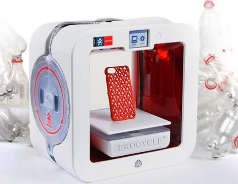 ekocycle impressora 3d printer plástico reciclado