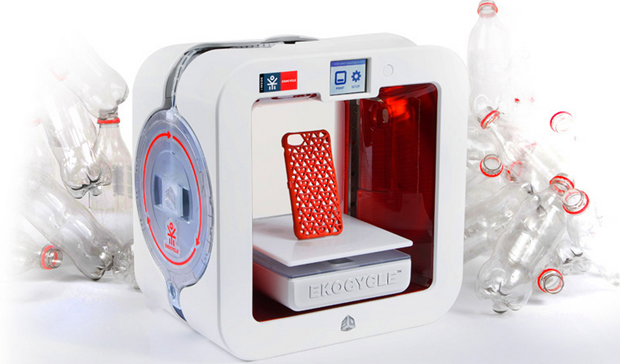 ekocycle impressora 3d printer plástico reciclado