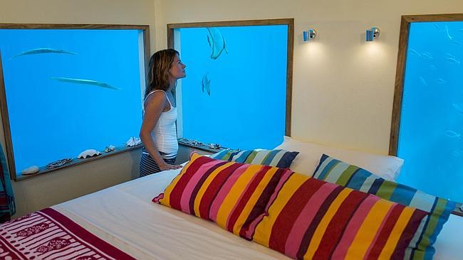 underwater hotek room tanzânia férias