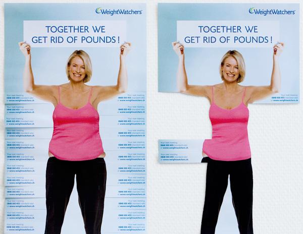 Weight Watchers perda de peso publicidade