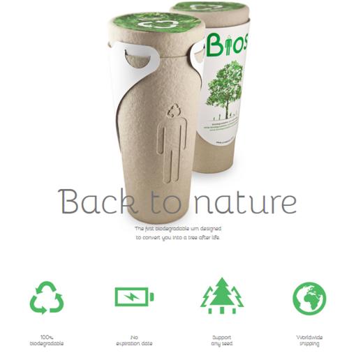 bios urn urna biodegradável funeral sustentável