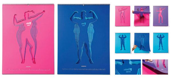 calendário ginásio fitness Companhia Athletica marketing