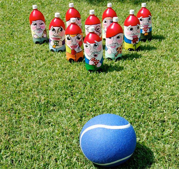 gnome bottle como fazer bowling ar livre garrafas