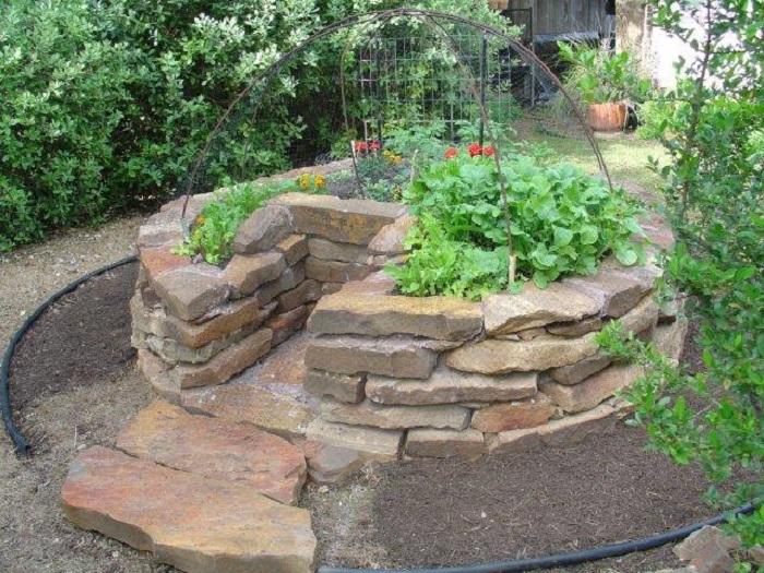 jardim horta mandala buraco de fechdura