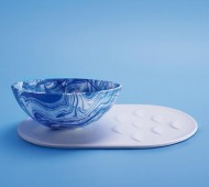pratos repelem água comida